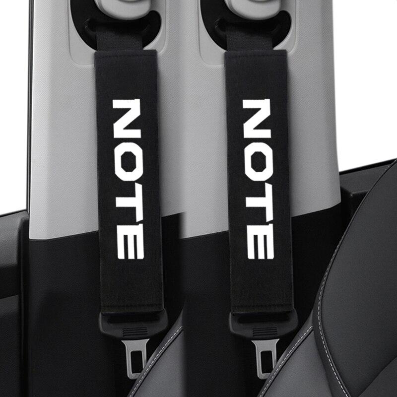 2 шт. автомобильный ремень безопасности колодки сиденья плечевой ремень Подушка Чехол для Nissan NOTE E11 E12 аксессуары