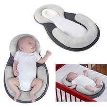 Baby Bed Anti-Turnover Nest for Cot Cradle Chaise Longue Cribs Travel 55--38cm