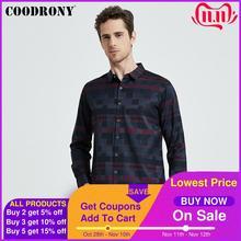 COODRONY koszula męska męskie koszule biznesowe w stylu Casual 2020 New Arrival mężczyźni znane marki odzież Plaid z długim rękawem Camisa Masculina 712