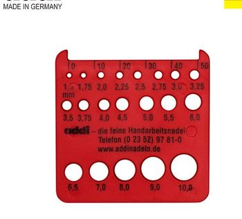 Addi Needle Gauge 1.5mm - 10mm + ruler and cutter, new from Germany addi size 403-0 404-0 image