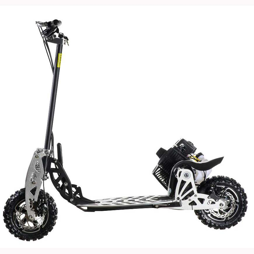Uberscoot/EVO 2 скорости складной 50cc скутер, охладитель газа со съемной Сиденье Электрический мотоцикл