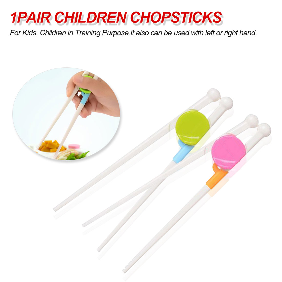 1 Pair Chopsticks For Sushi Baby Kids Cartoon Food Sticks Easy Use Fun Learning Training Helper Dishes Dinner Game Kitchen Tools