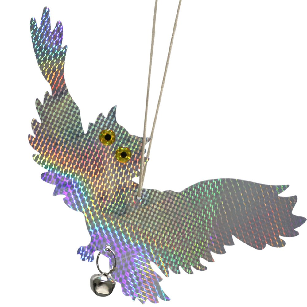 Owl Bird Repellent Control Scare Device Laser Reflective Fake Owl Scares Bird Pigeons Woodpecker Repellent