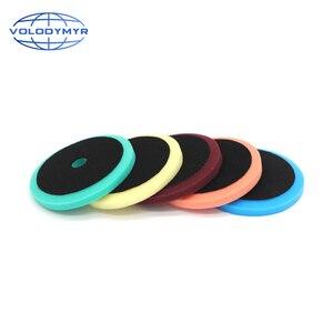 Image 3 - Carro polonês almofada almofadas de disco de polimento com 5 polegada gancho e loop para polir máquina de polimento detalhando espuma esponja auto accessorie