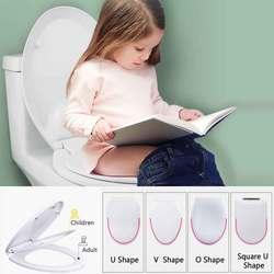 Двухслойное сиденье для унитаза для детей и взрослых, чехол для обучения детскому горшку, предотвращает падение, крышка для унитаза для дет...