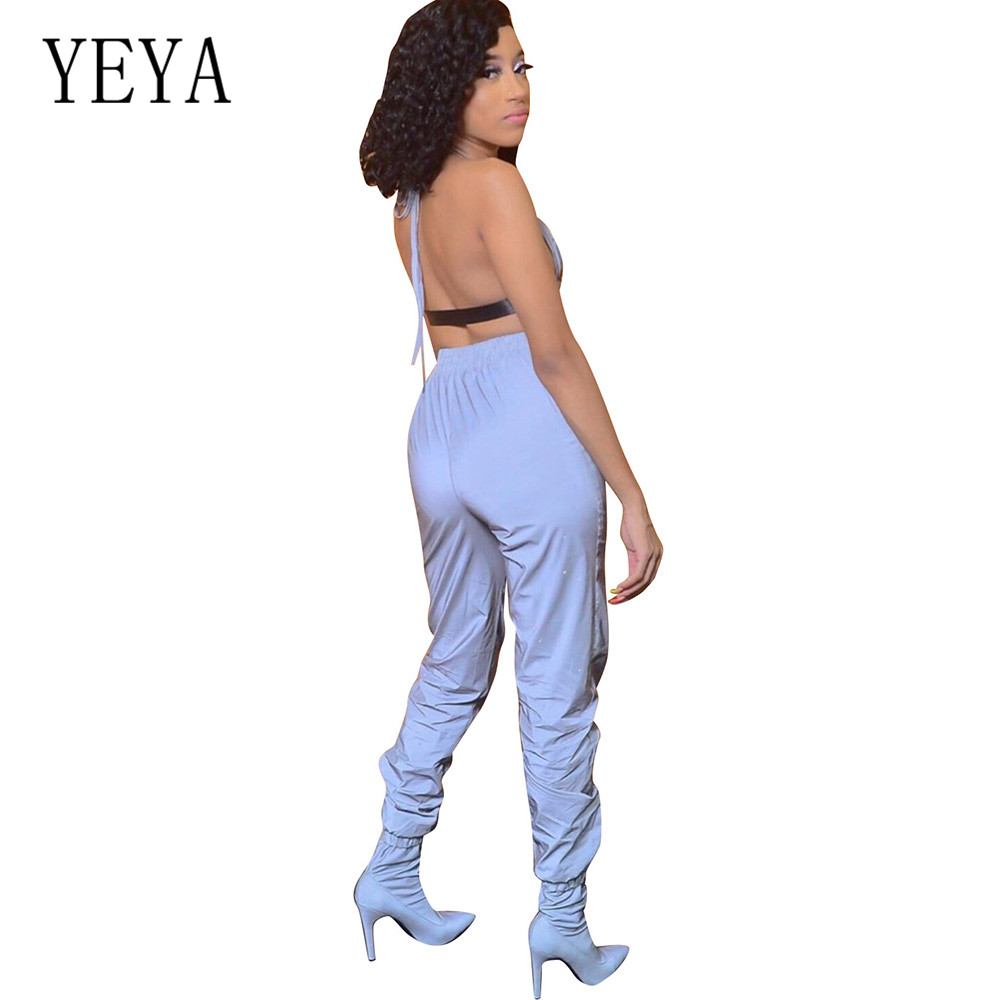 YEYA Fashion Trend Street 2 Pieces Sets Women Jumpsuits Elegant Open Back Sleeveless Hollow Out Sexy Playsuits Summer Overalls in Jumpsuits from Women 39 s Clothing