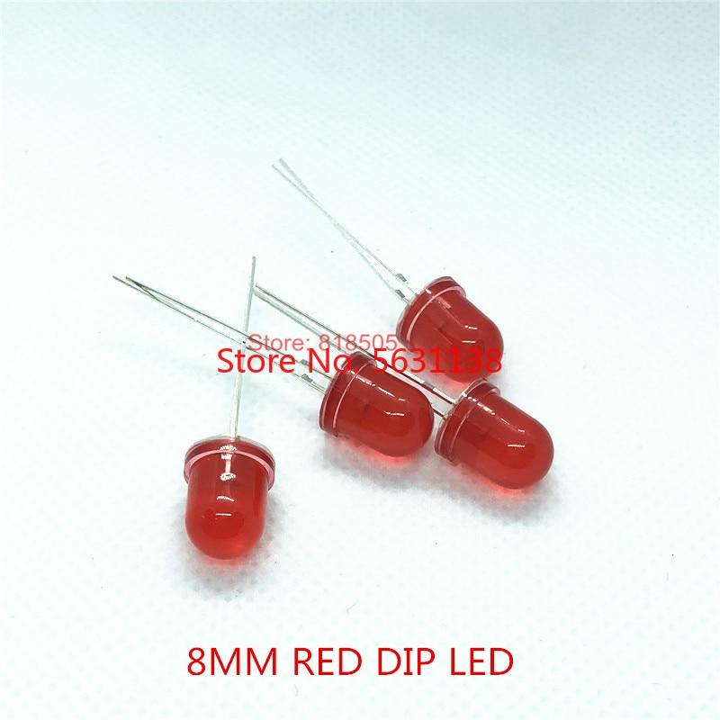 50 super brillante los LED rojos 5mm 3000 MCD accesorios led rojo