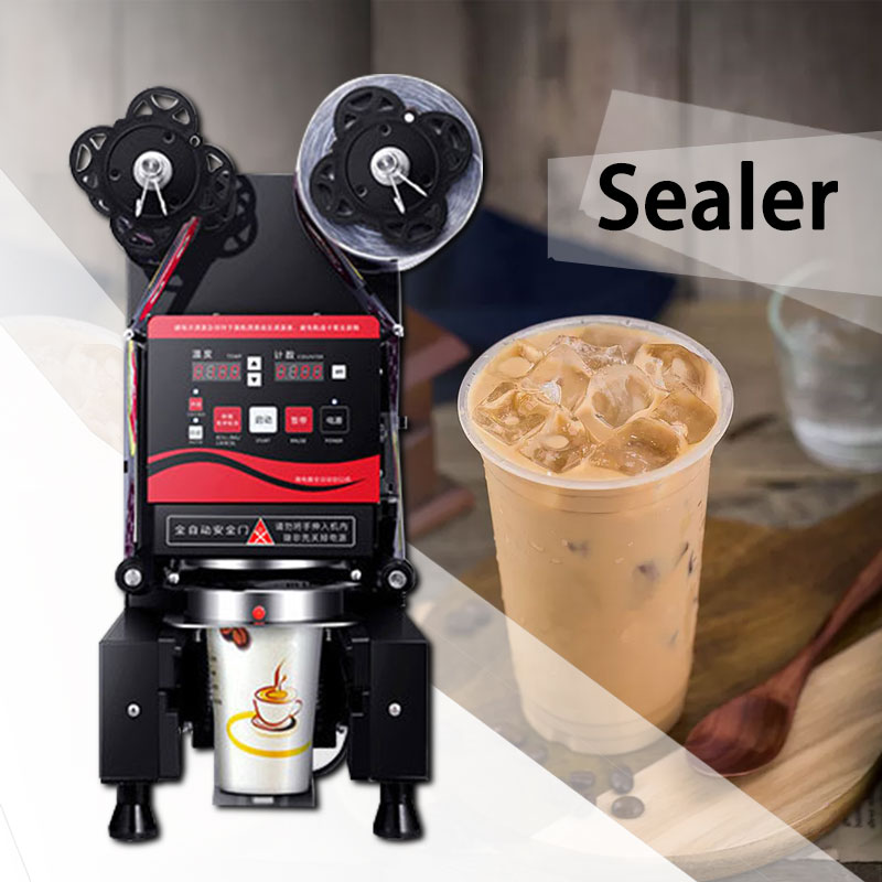 220 В автоматическая машина для запечатывания напитков Коммерческая Машина Для Запечатывания молока чая машина для запечатывания соевого