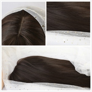 Image 4 - EASIHAIR Long Dark Brown Straight Synthetic Wigs with Bangs Natural Wigs for Women African American Heat Resistant Cosplay Wigs