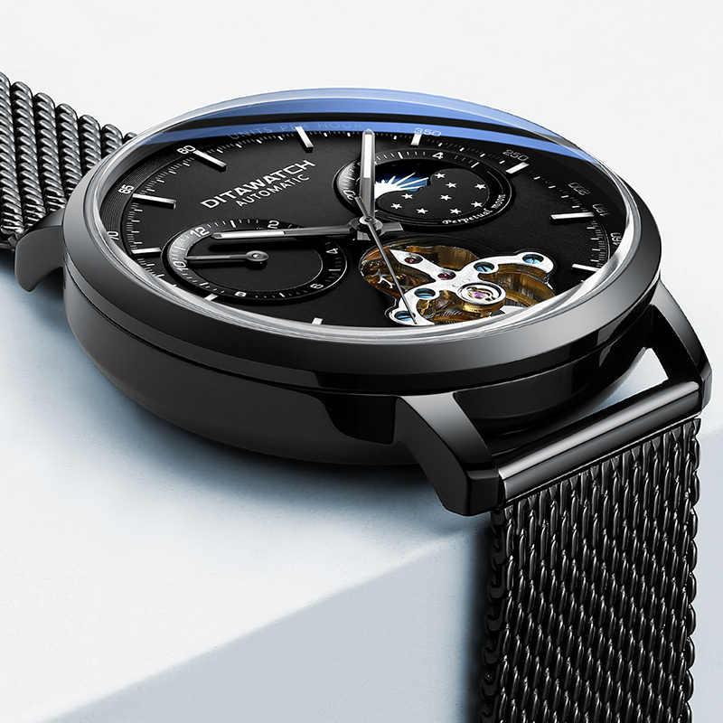 2019 oem montre logo tourbillon automatique mécanique relogio masculino acier inoxydable poignet main bracelet hommes montre