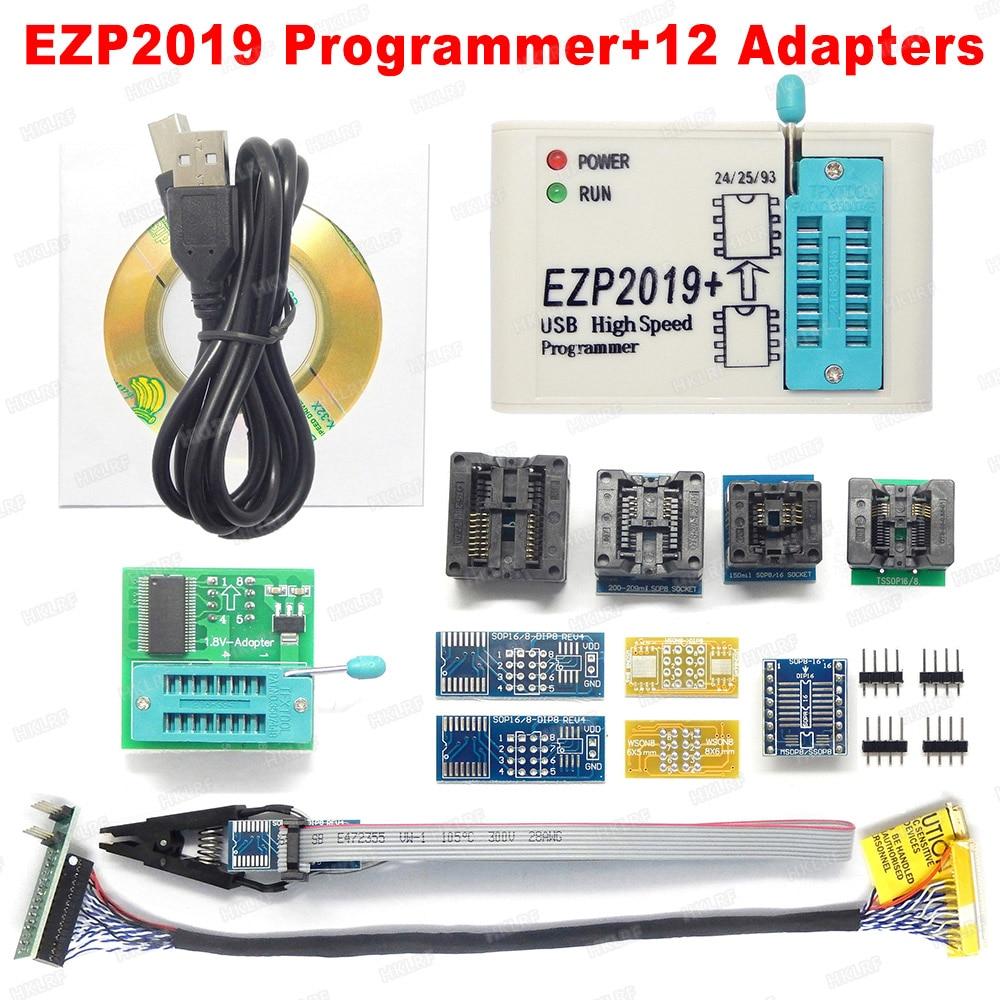New EZP2019 USB SPI Programmer Support 24 25 93 EEPROM Flash Bios High Speed DO