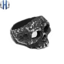 Original Handmade Silver Literary House Dark Punk Skull Ring 925 Personality