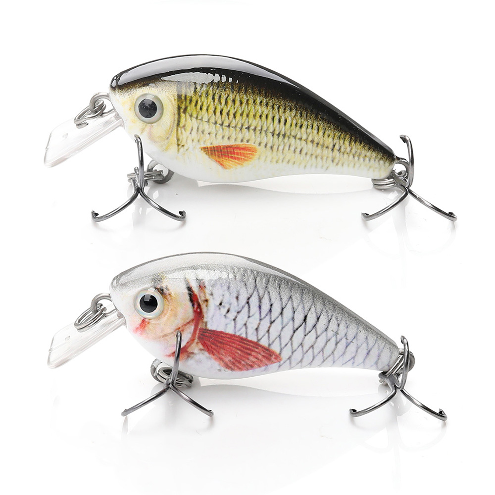 Image 2 - TREHOOK 4cm 5g Topwater Mini Crankbaits Fishing Lure Artificial Hard Bait Trolling Wobblers Fishing Tackle Lures Bass Swimbait-in Fishing Lures from Sports & Entertainment