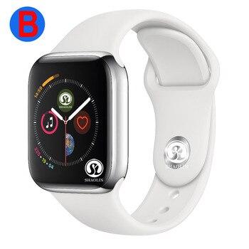 B умные часы серии 4 для мужчин и женщин Bluetooth SmartWatch для Apple iOS iPhone Xiaomi Android смартфон (красная кнопка)