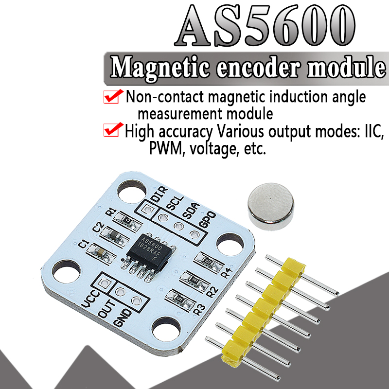 Official AS5600 Magnetic Encoder Magnetic Induction Angle Measurement Sensor Module 12bit High Precision