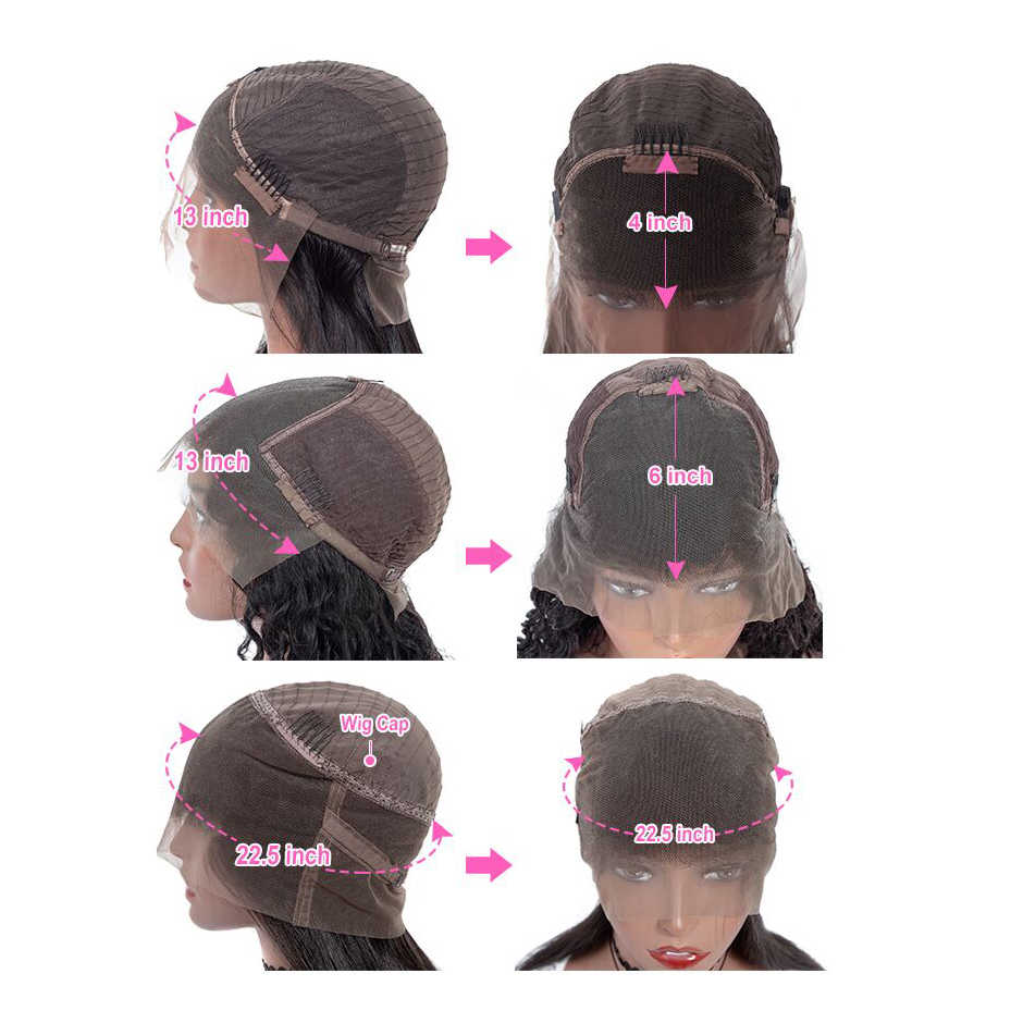 Волнистые человеческие волосы парик Remy 150% плотность 13X4 кружево фронтальная человеческие волосы предварительно отобранные 13X6 прозрачные парики шнурка