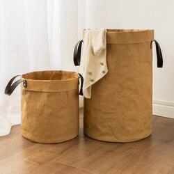 Wodoodporny kosz na pranie dzieci organizator do zabawek i ubrań kosz na bieliznę duża bawełniana pościel kosz na ubrania domowe przechowywanie rozmaitości|Kosze do przechowywania|Dom i ogród -