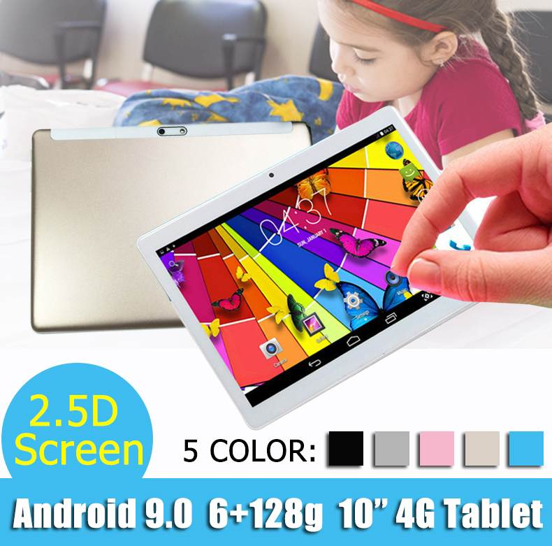 Hot Sales LEORY 10.1 Inch 2.5D Arc Tablet PC Android 7.0 6G+128G 800W+1300W Camera Multilanguage 2560*1600 FHD IPS Display