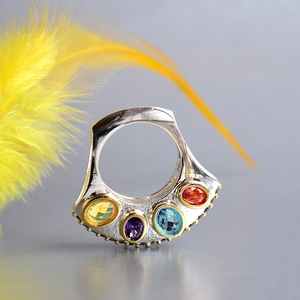 Image 3 - DreamCarnival1989 Specials Upright Design Promise Wedding Engagement Rings for Women Infinity Colors Zircon September WA11710