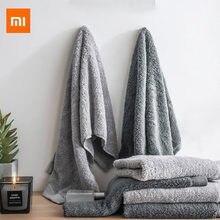 Xiaomi como vivendo preto e prata fibra antibacteriana toalha macia e confortável 32x76cm absorvente e durável
