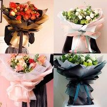 10 шт./лот красочные оберточная бумага для цветов 60*60 см водостойкий букет упаковочная Бумага цветочный упаковочный материал для подарков