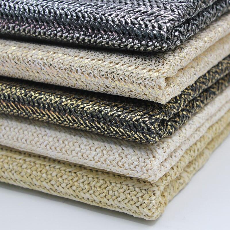 Экологичная ПП рафия тканая ткань дышащая ручная работа DIY соломенная сумка материал ткань 45х140см