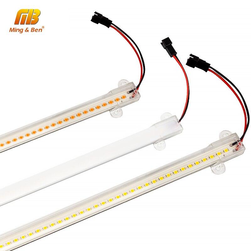 LED Tube Light SMD2835 72leds 50cm 30cm Clear Shell Milky White Shell Warm Cold White 220V LED Wall Lamp Home Commercial Light