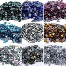 Wszystkie rozmiary kolory kryształ AB Hotfix dżetów, szkło Strass Hot fix dżetów do zdobienia paznokci i tkanin