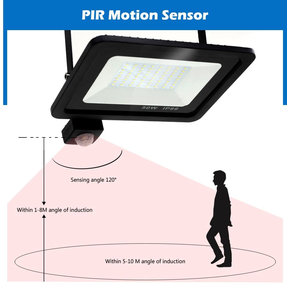 cheapest Goodland Outdoor Lighting 100 LED Solar Wall Light Waterproof Outdoor Lamp LED With PIR Motion Sensor Exterior Light for Street