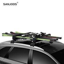 цена на SANJODS Roof Rack Ski Board Carrier For Car Roof Rack Sleek Ski Rack For All Types Of Skis And Snowboards