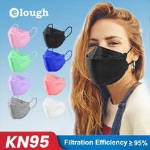 Elough Fish mask kn95 face mask protective Dustproof Mascarillas ffp2 CE safety homologada Adult masks Fabric KF94 Mouth MASK