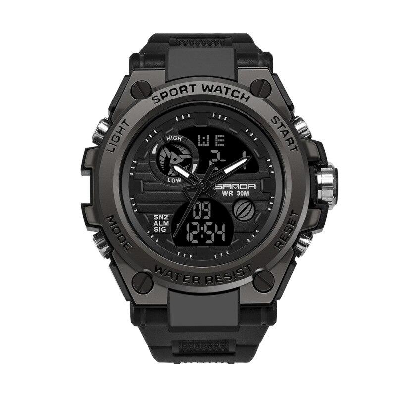 Relógio de Quartzo à Prova Relógio de Choque Moda Sanda Esportes Relógios Masculinos Marca Superior Luxo Militar Dwaterproof Água s Relógio Masculino 739