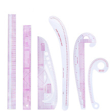 MIUSIE 6 Pcs French Metric Ruler Plastic Sewing Tools Grading Curve Shaped Measure Tailor Ruler for Sewing Dressmaking Supplies