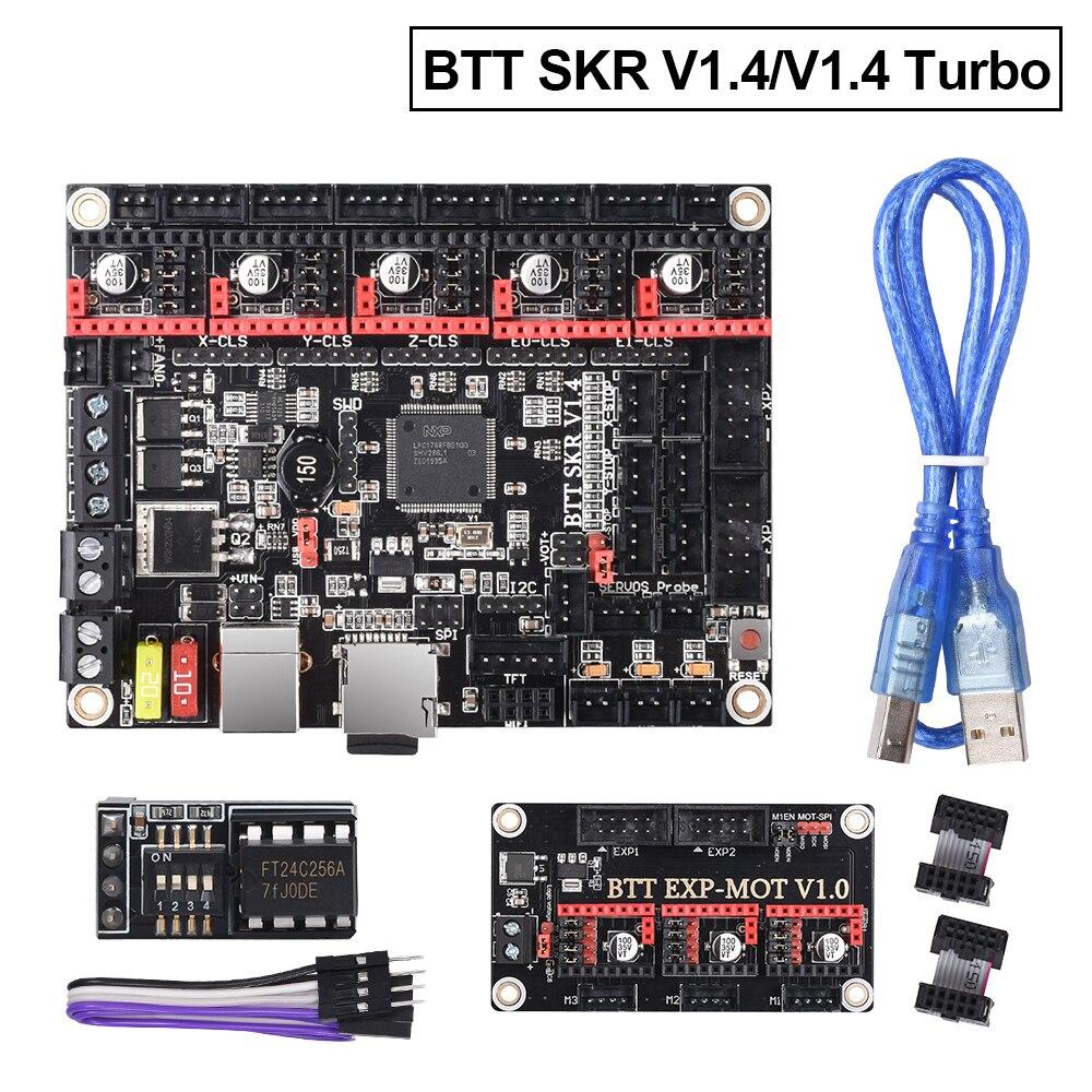 BIGTREETECH SKR V1.4 SKR V1.4 турбо плата управления TMC2209 TMC2208 uart EEPROM V1.0 детали для 3D-принтера