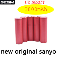 цена на GZSM 18650 battery for Sanyo UR18650ZT rechargeable battery 2800mAh 3.7V 6A For replacement battery