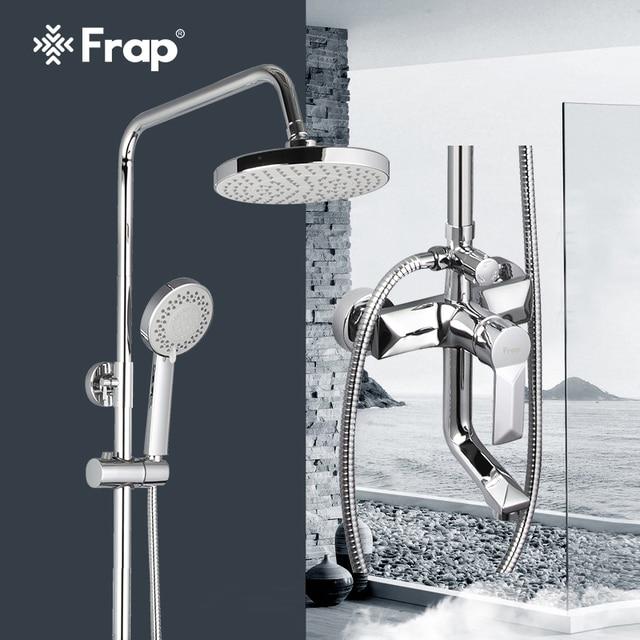 Frap 1 комплект «дождевой» смеситель для душа в ванную, смеситель с ручным распылителем, настенные наборы для душа и ванной с одной ручкой F2418