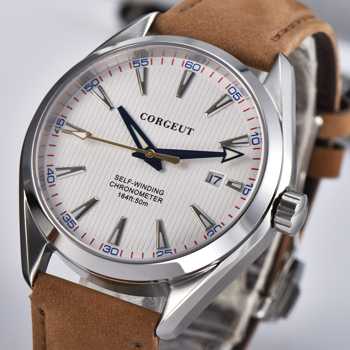 41mm White Dial Date Calendar Automatic