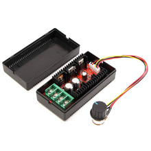 цена на 9-50V PWM HOO DC Motor Speed Controller Adjustable Variable Speed Switch 12V 24V 36V 48V 40A 2000W