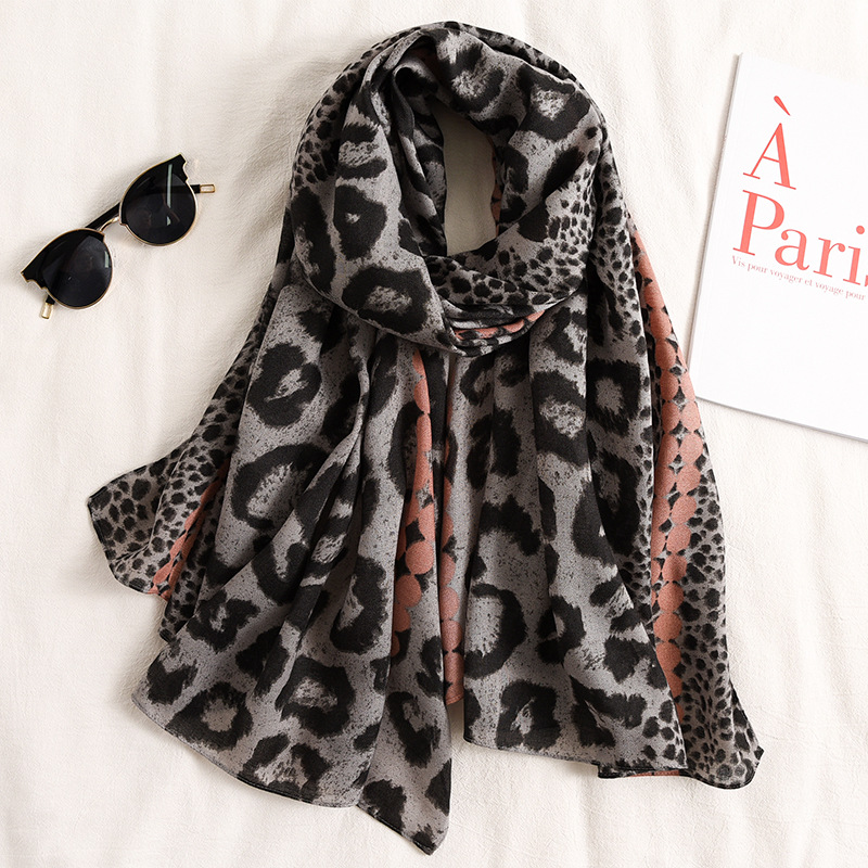Sprint Women Designer Print Cotton Scarves Leopard Shawls And Wraps Lady Soft Pashmina Hijab Scarf Beach Stole Headband