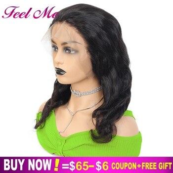 Pelucas frontales de encaje Afro de cabello humano 13X4 no Remy indio M Body Wave de encaje 130% pelucas frontales de encaje con pelo de bebé para mujeres negras