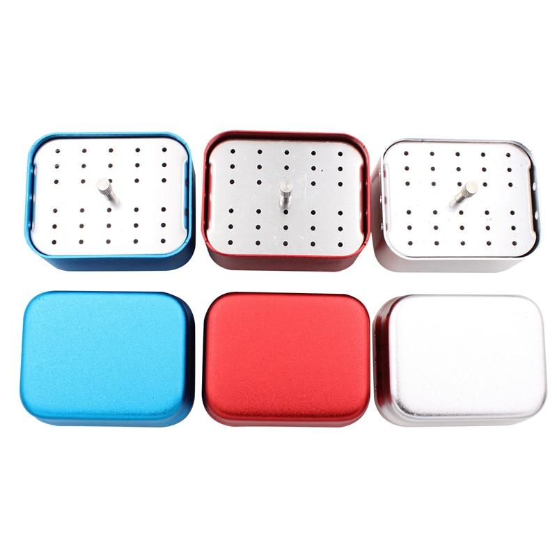 1pcs Aluminum Dental Disinfection Box Autoclave Sterilizer Case Burs Endo Files Holder 30 Holes For Burs Dentista Instrument Lab