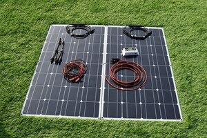 Image 3 - 100 واط 200 واط مرنة نظام لوحات شمسية 10A/20A وحدة تحكم لسيارة RV قارب سقف المنزل التخييم 12 فولت 24 فولت شاحن بطارية