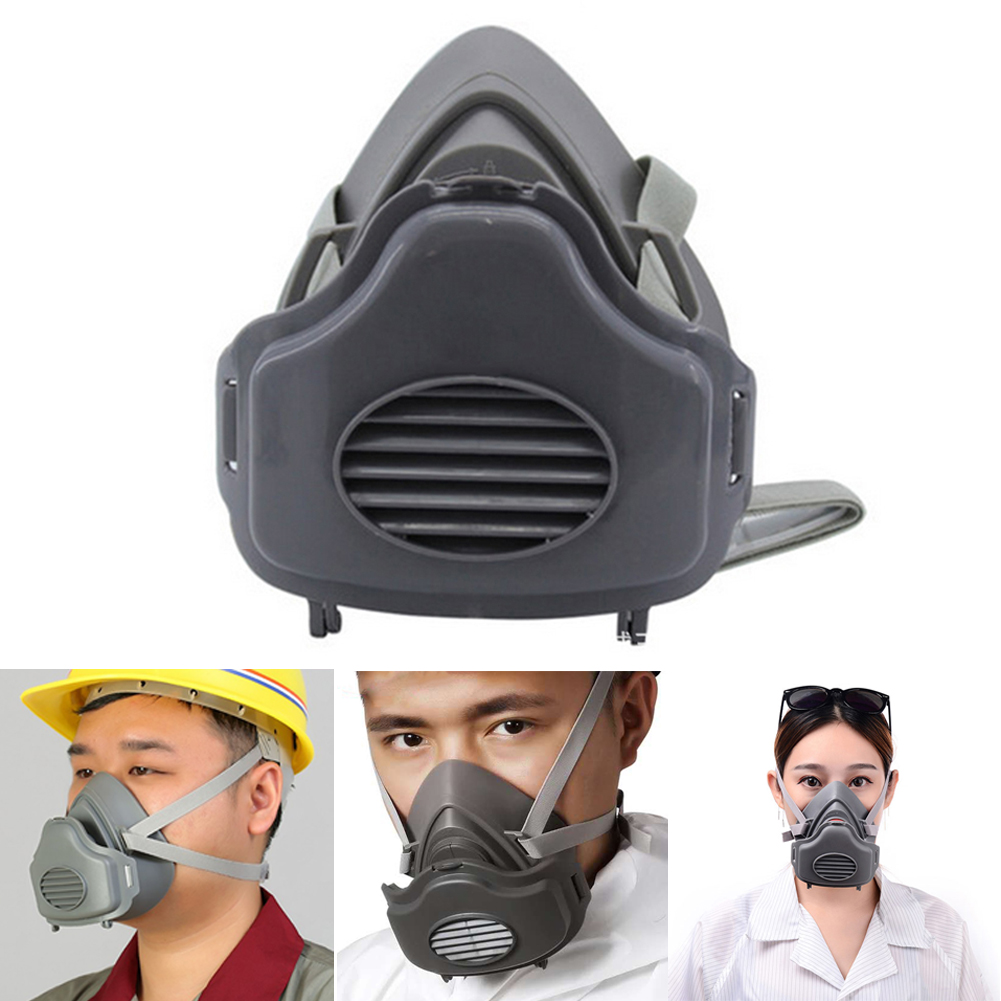 3700 Half Face Rubber Anti-Dust Mask Industrial Particulate Dust Filter Pm2.5 Harmful Substance Respirator