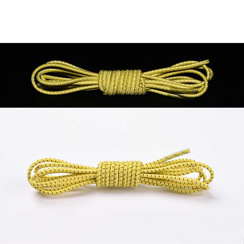 1 par reflectante estiramiento cordones Multicolor luminoso perezoso cordones moda banda elástica 105cm tiras de cordones de zapatos Unisex