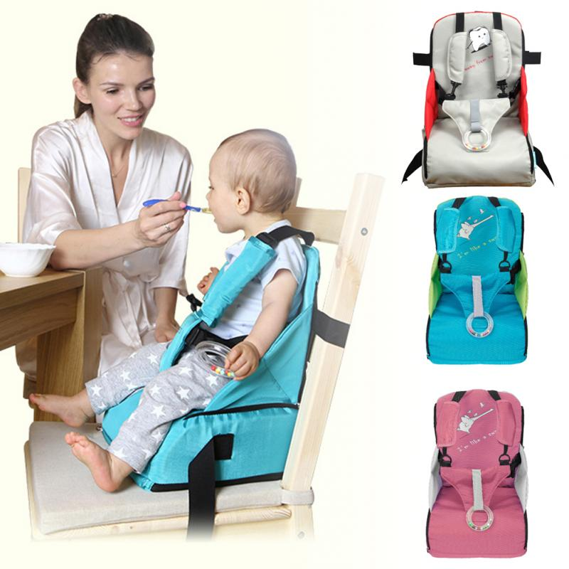 Folding Traveling Portable Baby Feeding High Chair Oxford Cloth Comfortable Zipper Stool Children Booster Seats Newborns Nursing