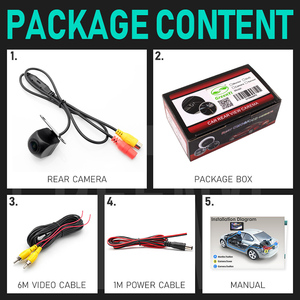 Image 4 - HD 170 Angle Fisheye Lens Dynamic Trajectory Parking Line Car Rear View Reverse Backup Camera For Vehicle Parking Monitor