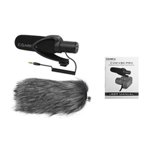 Comica Cvm-V30 Pro Super-Cardioid Directional Condenser Video Microphone with 3.5Mm Interface Professional Shock Mount Univers