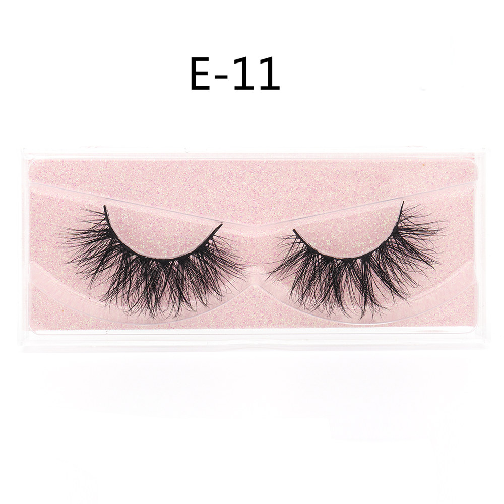Veyelash 3D Mink Lashes 100% Natural Handmade Volumn Soft Lashes Long Eyelash Extension Real Mink Fur Eyelash For Makeup E11 E09