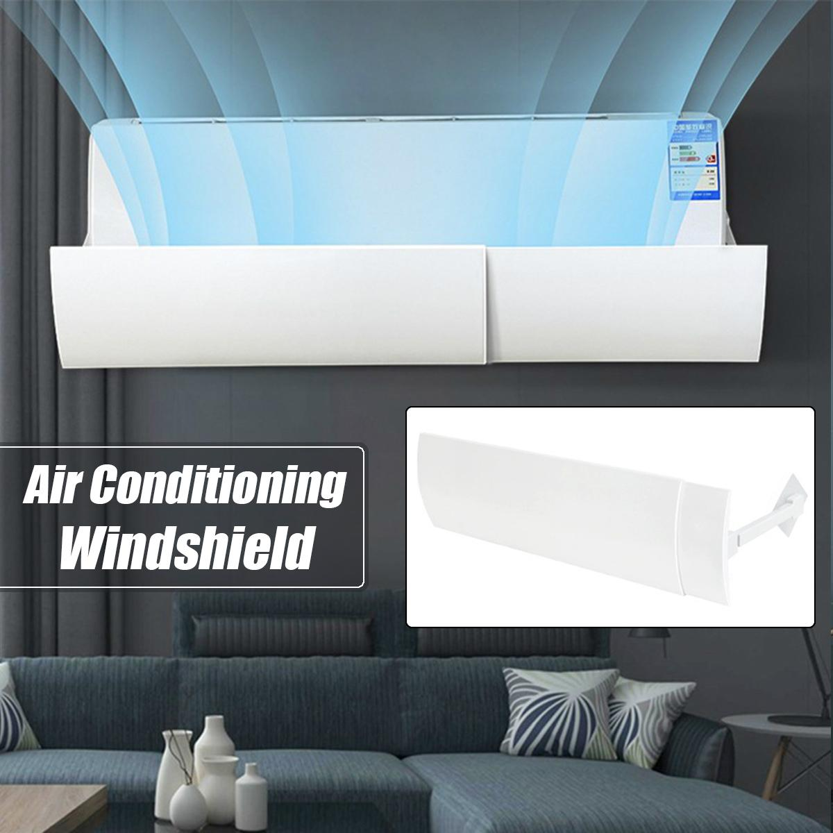 Adjustable 56-102cm Air Conditioner Shield Cold Air Conditioner Deflector Baffle Anti Direct Blowing Straight Anti-wind Shield