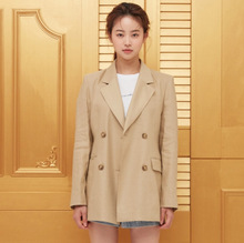 The New Autumn Women Coat Loose V-collar Suit Has A Thin Double Breasted Notched Full Women Jackets and Coats Suit 2019